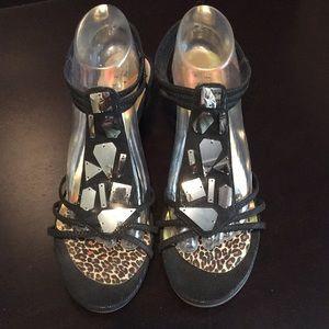 New York Transit Wedge Sandals